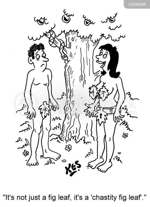 Cartoon male chastity