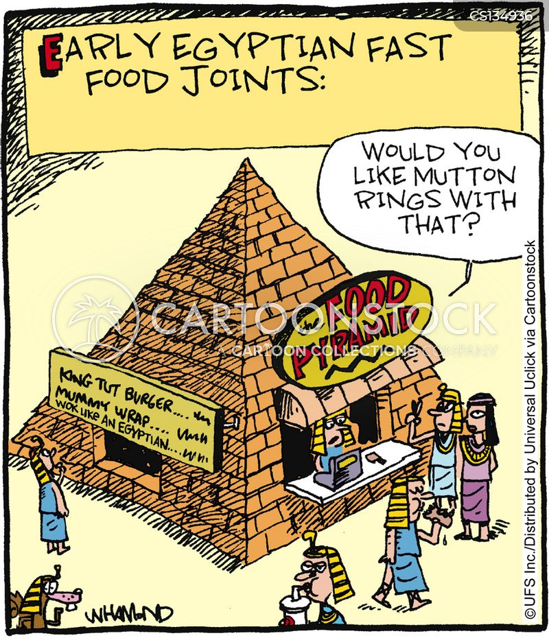 Food pyramid cartoons and comics funny pictures from for Ancient egyptian cuisine