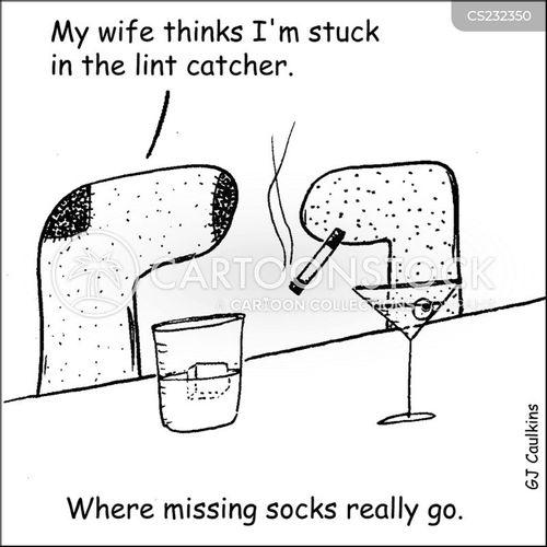 Missing Sock Cartoons ...