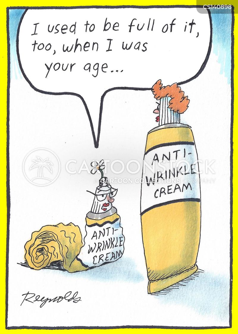 Anti Aging cream on lemon cartoon character