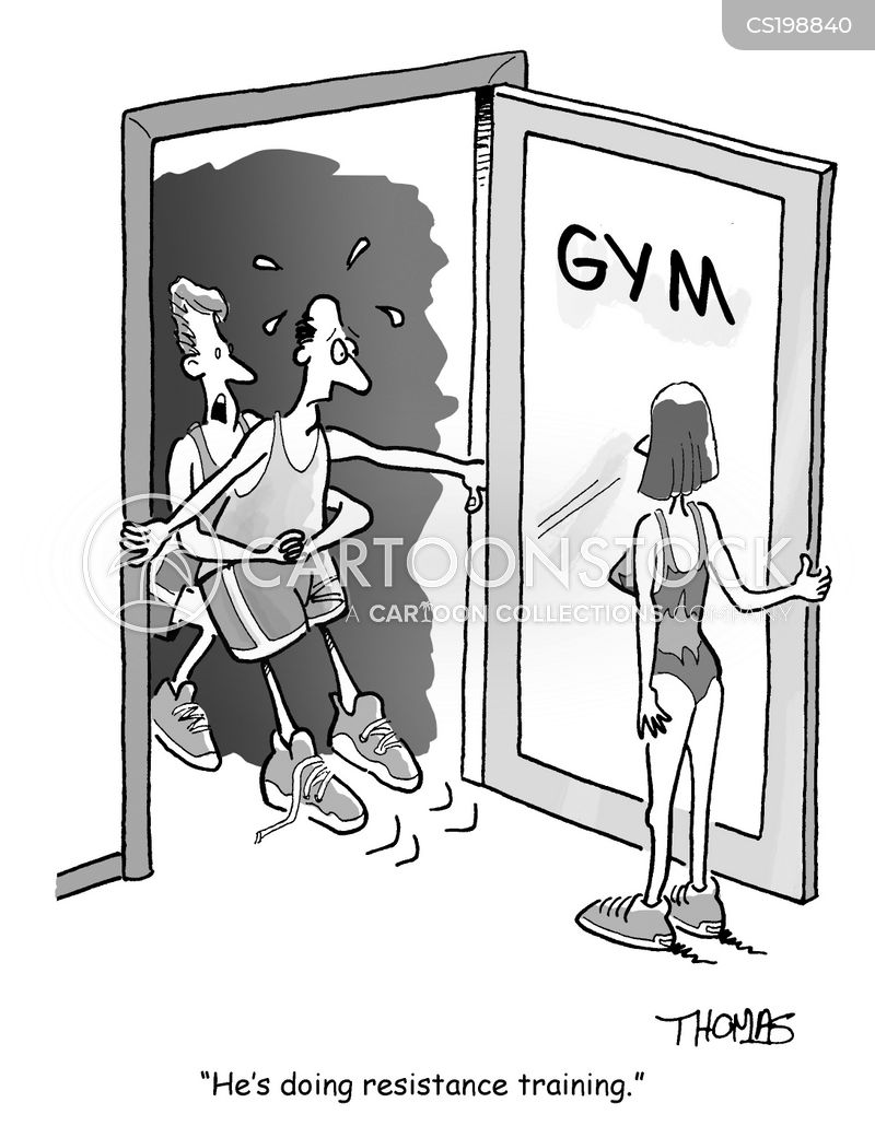 personal trainer adult cartoon