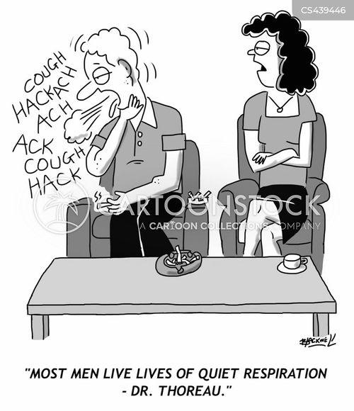 Respiratory Problems Cartoons and Comics