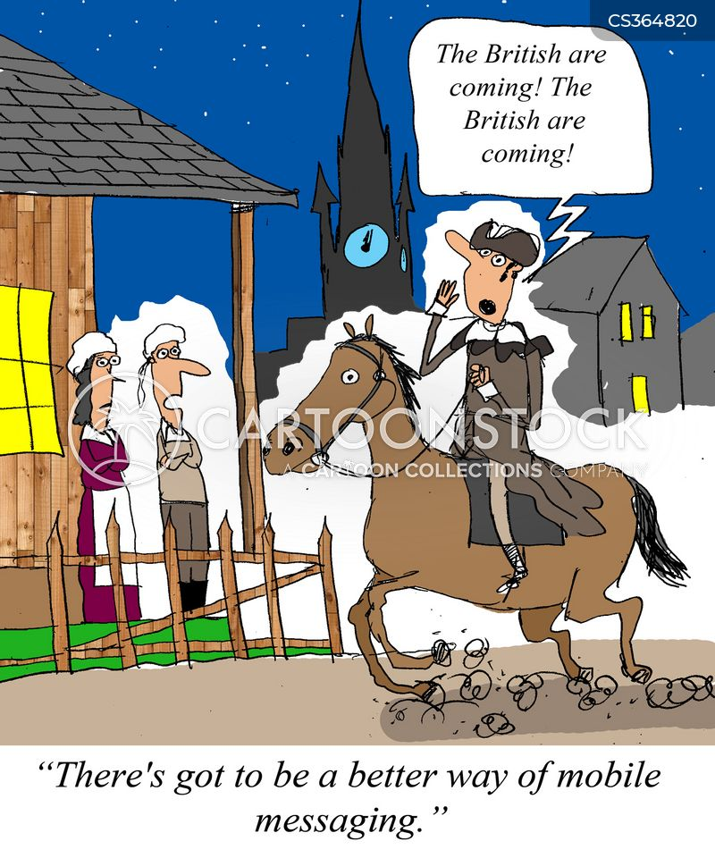 Mad Political Cartoon >> Paul Revere Cartoons and Comics - funny pictures from CartoonStock