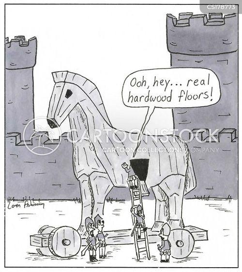 Trojan Horses Cartoons and Comics