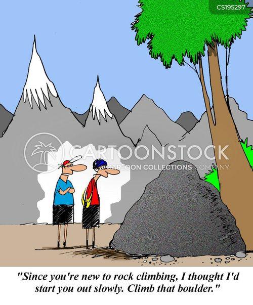 Rock climbing cartoon images