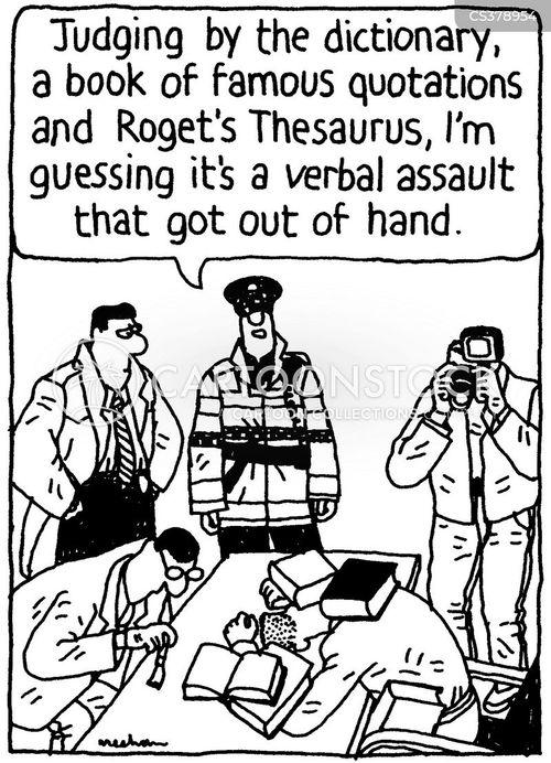 verbal assault cartoons and comics