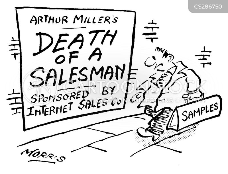 the self identity of willy loman in arthur millers death of a salesman Arthur asher miller was born on october 17,  death of a salesman opened at the morosco theatre on february 10,  as willy loman,.