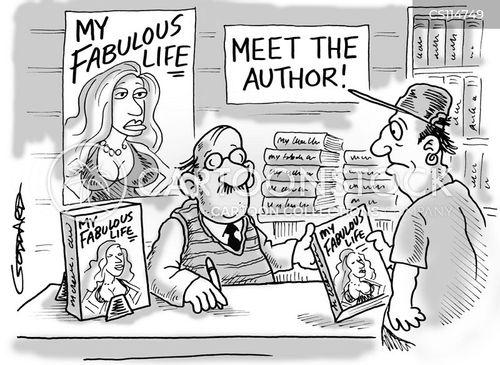 Book Signing Cartoons - cartooncollections.com