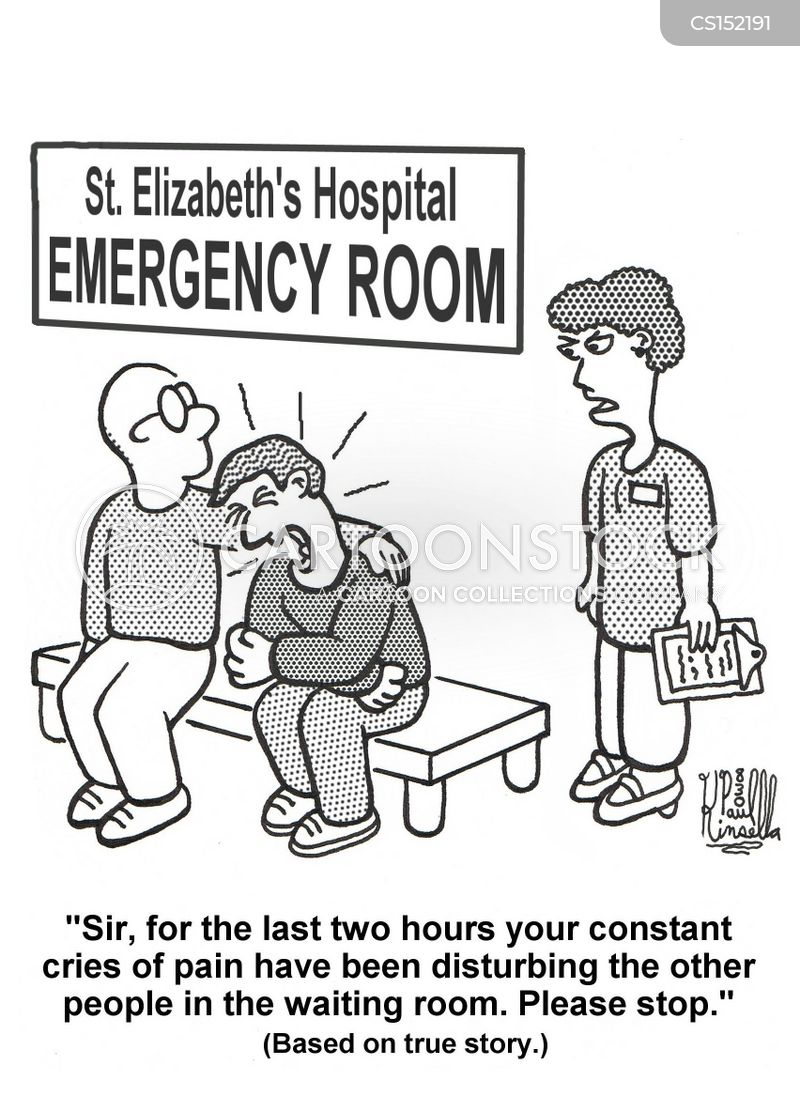 Emergency Room Waiting Cartoon Elizabeths Cart...