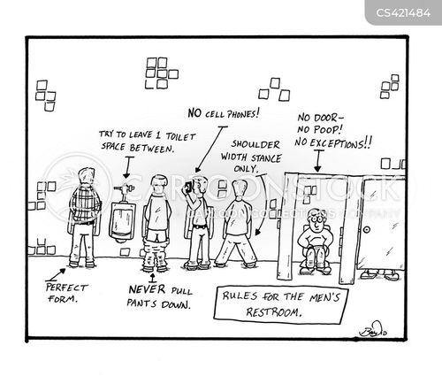 Bathroom etiquette cartoons and comics funny pictures for Male bathroom etiquette