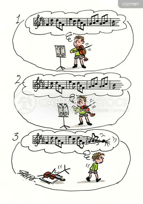 playing the violin cartoons and comics