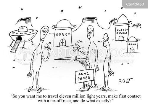 alien planet cartoons and comics