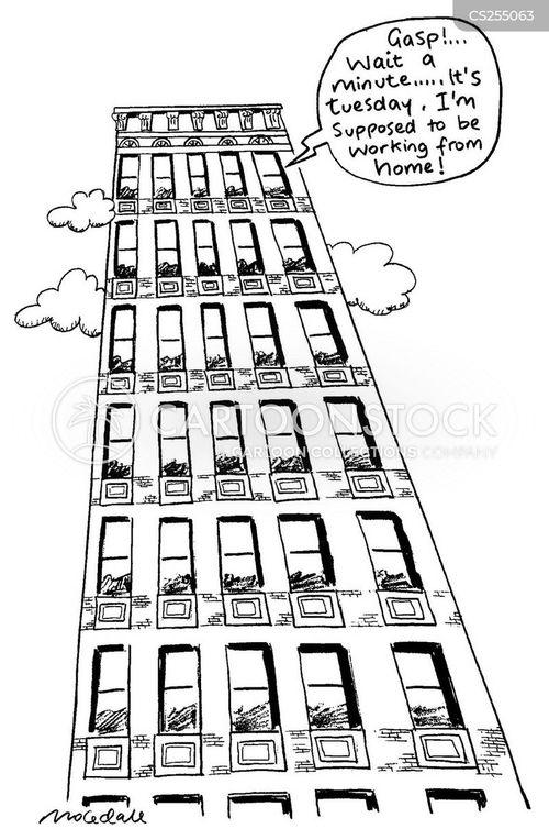 telecommute funny cartoons