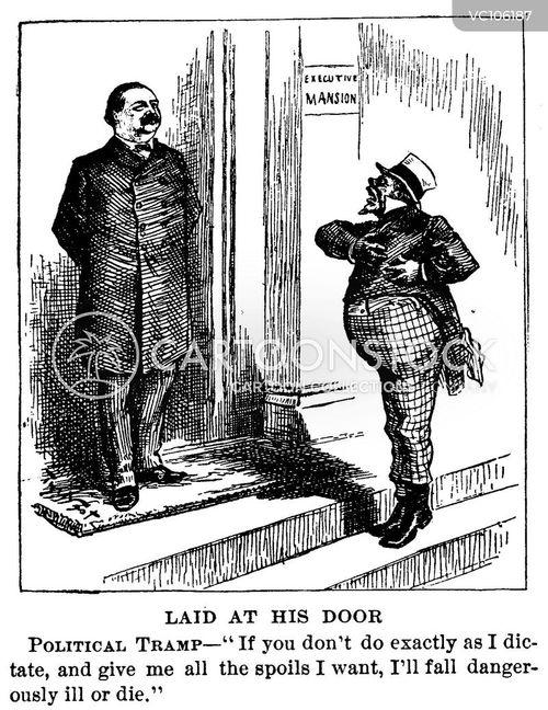 Civil Service History : Us president vintage and historic cartoons