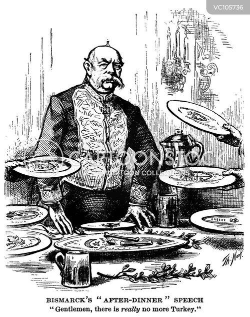 Otto Von Bismarck Vintage And Historic Cartoons