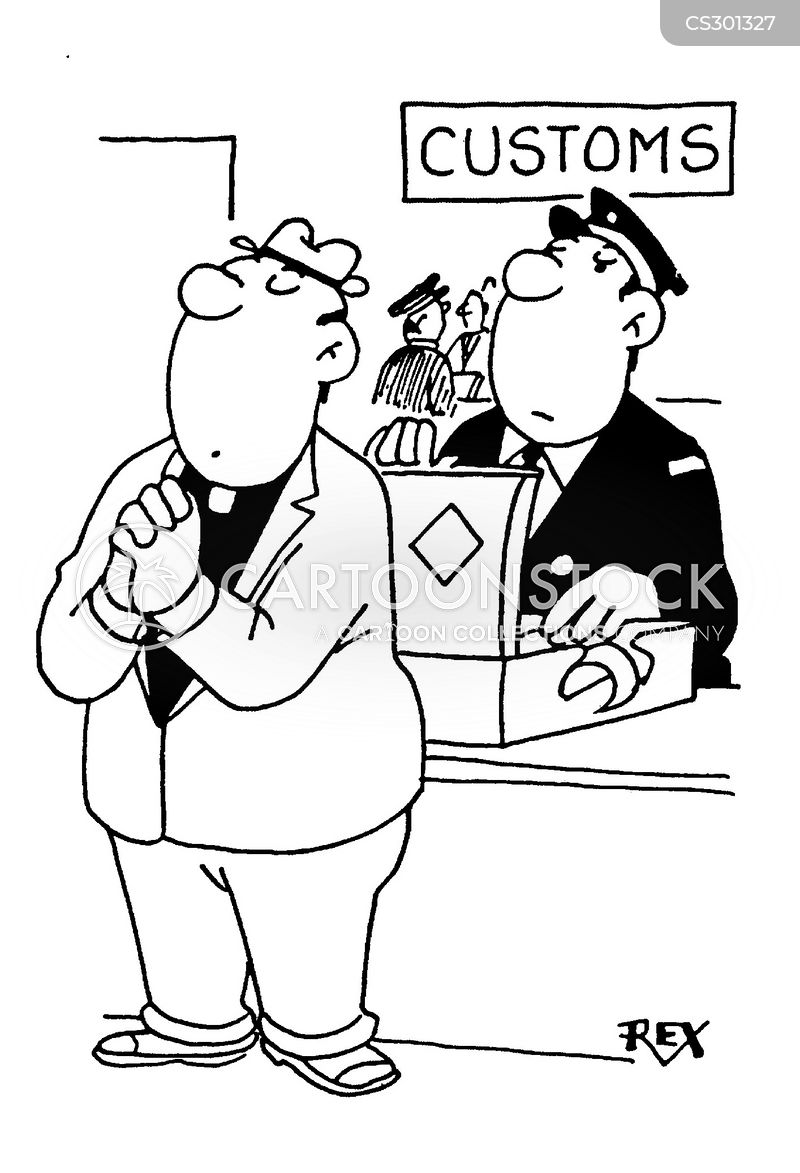 Customs And Excise Cartoons And Comics Funny Pictures