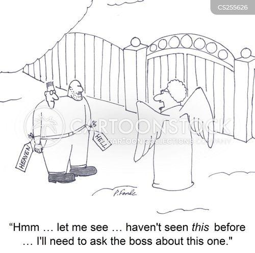 Stock Illustration Devil And Angel Cartoon