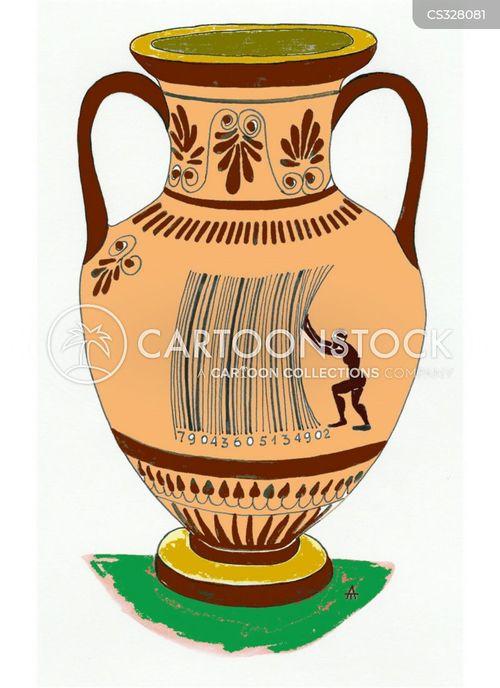 Cartoons Und Karikaturen Mit Antike