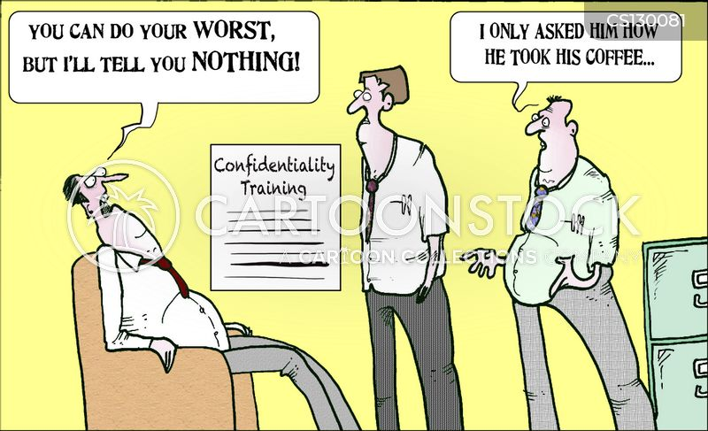 how to describe confidentiality work
