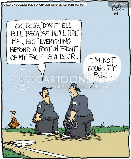 Funny softball cartoon