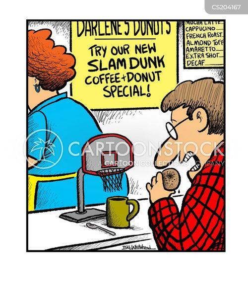 Funny Fitness Cartoons Basketball Hoop Cartoo...