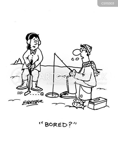 ice fishermen cartoons and comics