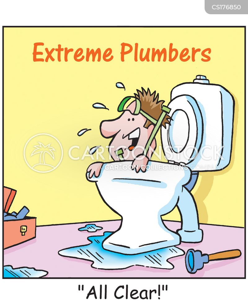 Blocked Toilet Cartoons And Comics Funny Pictures From