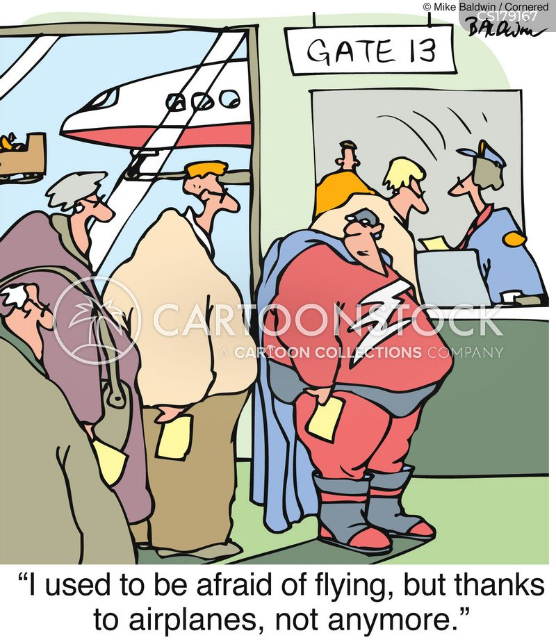 fear of flying cartoons and comics   funny pictures from
