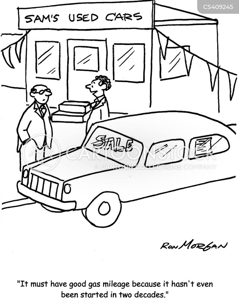 gas mileage cartoons and comics