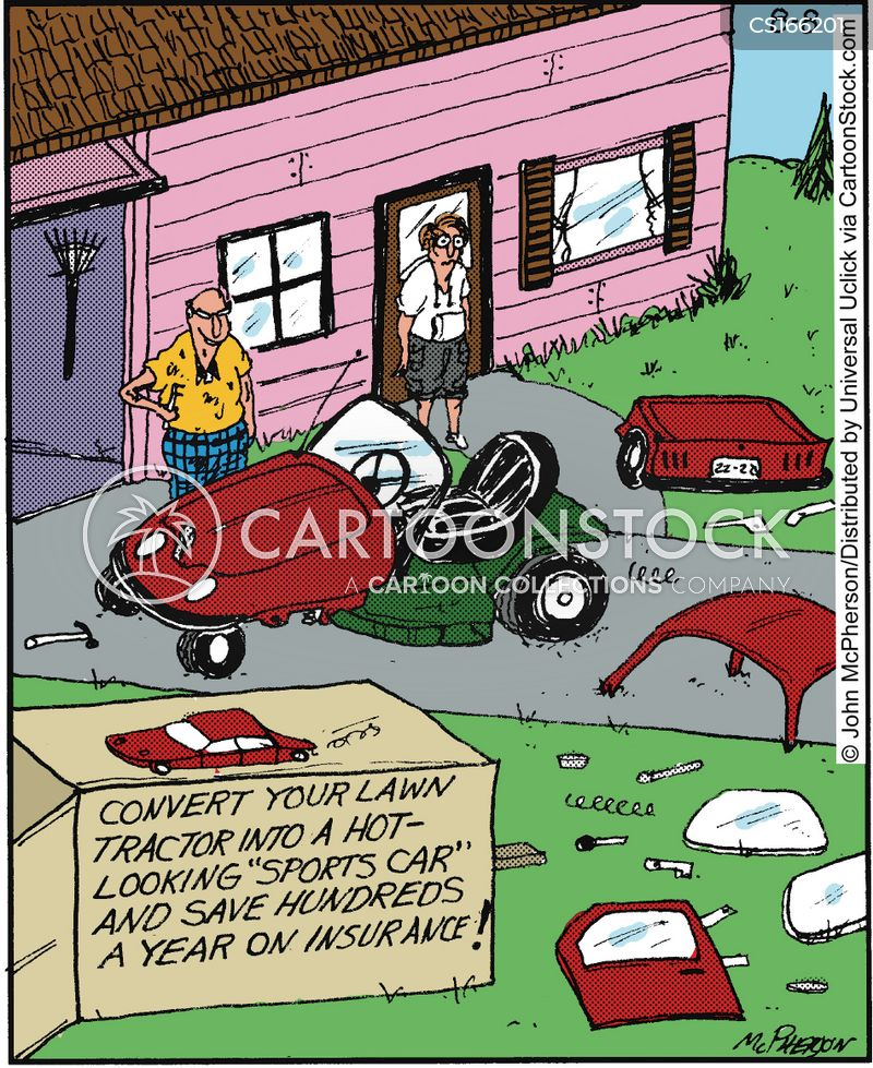 Lawn Mower Tractor >> Tractor Cartoons and Comics - funny pictures from CartoonStock