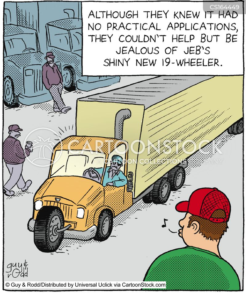 Trucker Cartoons And Comics Funny Pictures From Cartoonstock