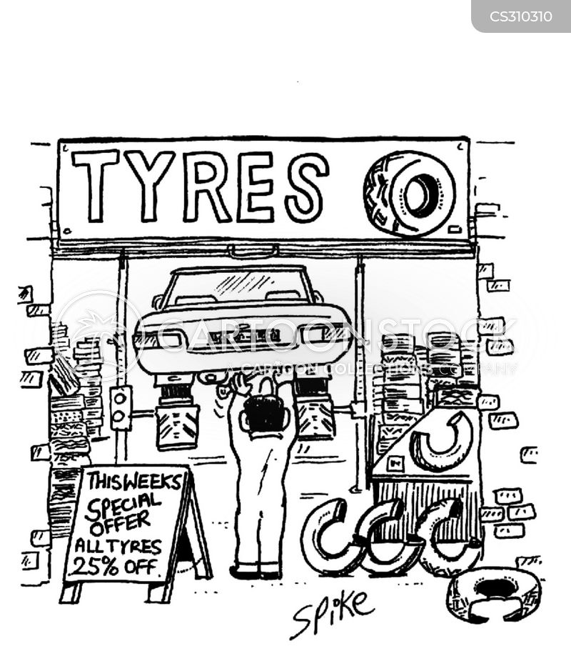 Garage Workshop Cartoons and Comics - funny pictures from ... Goodyear Tires