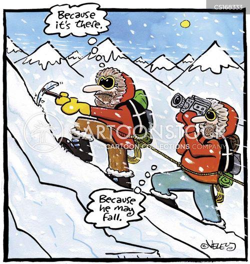 mountain climbing cartoons and comics funny pictures