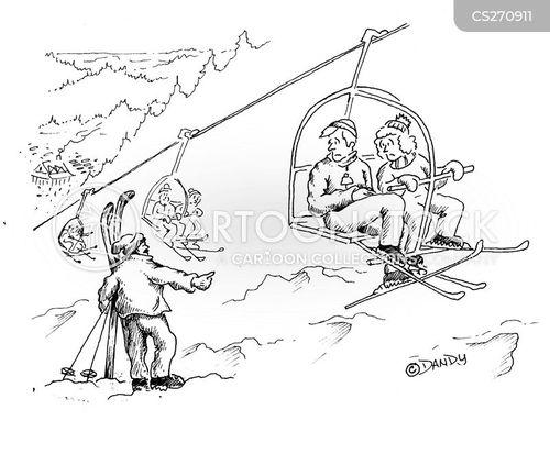 Ski Resort Cartoons and Comics
