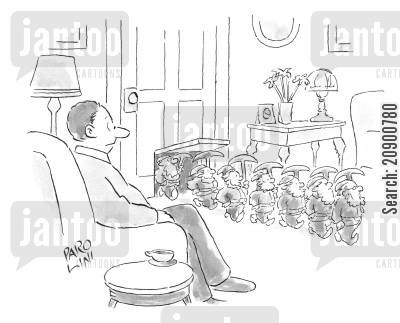 Procession cartoons humor from jantoo cartoons for Living room joke