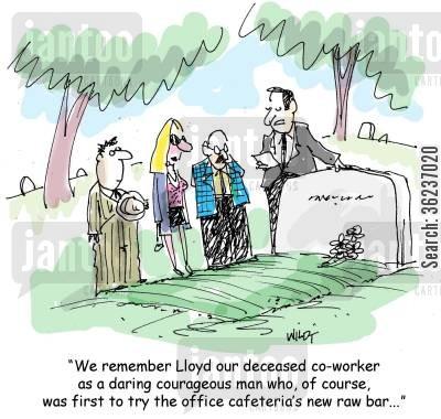 eulogy cartoons - Humor from Jantoo Cartoons
