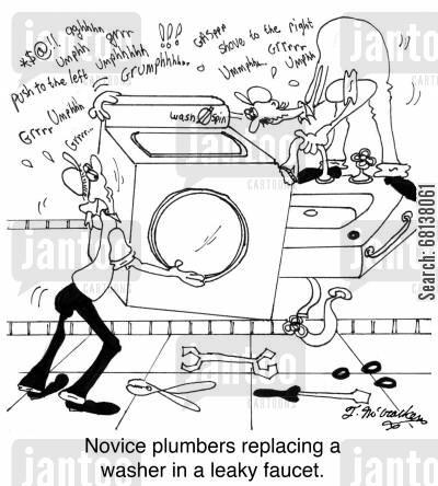 repair leaking washing machine faucet