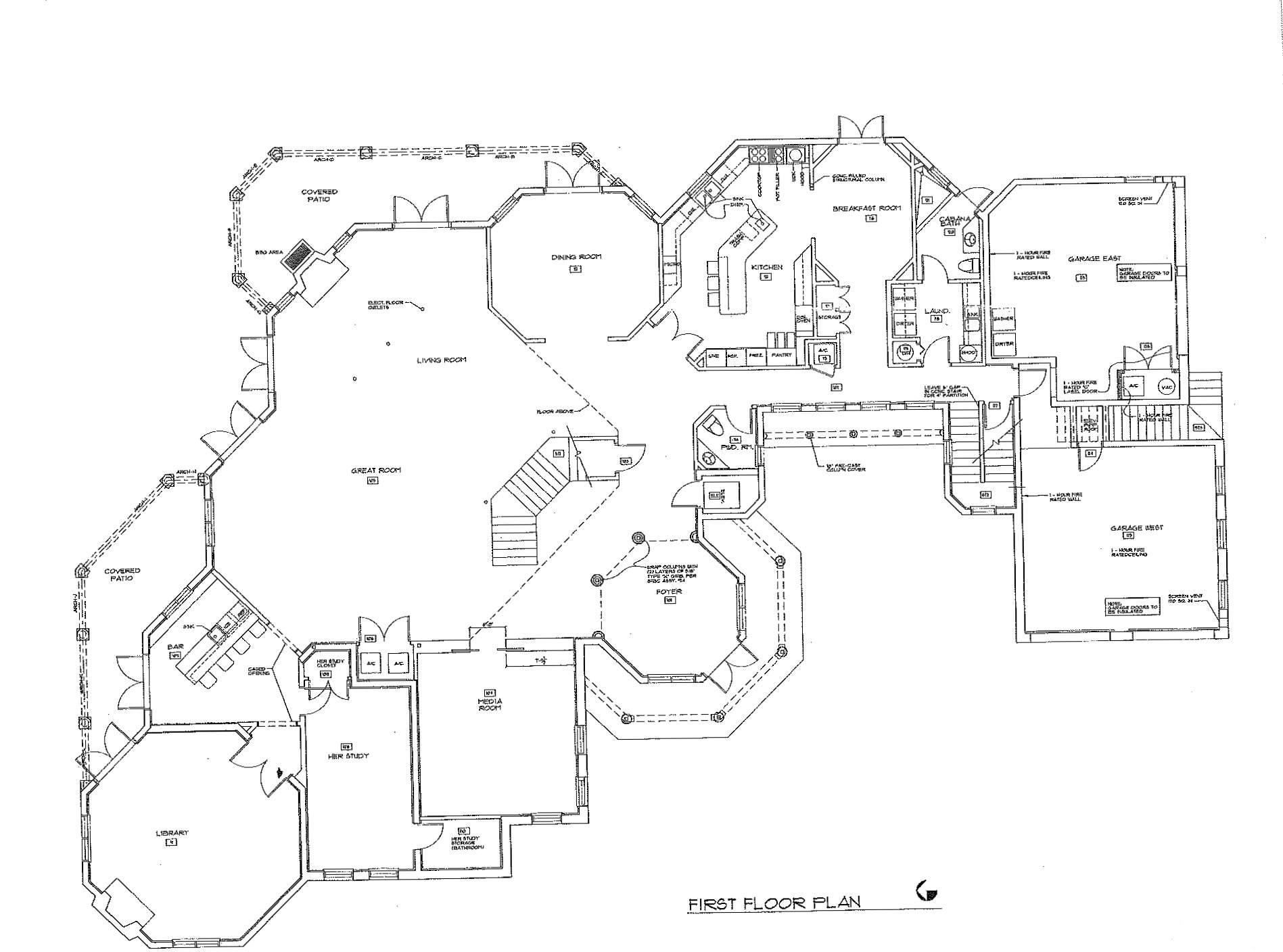 Harbor beach deepwater estate for Estate blueprints