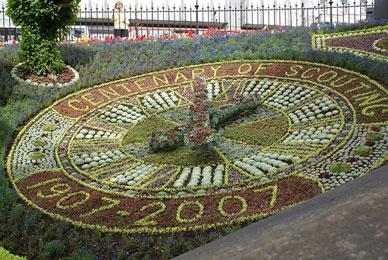 A Floral Clock in Edinburgh, Scotland celebrating a century of Boy Scouts, copyright of rakastajatar on Flickr.
