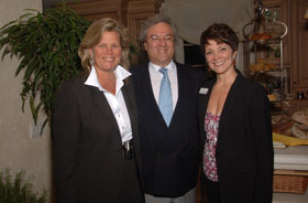 (Left to right) Homeowners Jody Jorgensen & Dr. Arnold Yoskowitz, and Burgdorff ERA Sales Agent Cynthia O'Neill.
