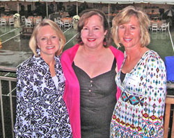 (From left to right) Carolynn Cooper – President, Brookwood Hills Garden Club, Karen Grice – Buckhead office Sales Associate, and Renee Richardson – Co-Chair, BHGC 80th Anniversary Celebration.