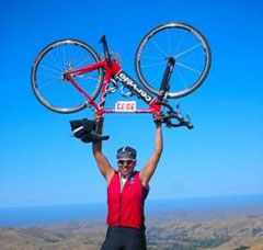 Abigail Picache, a Pacific Union GMAC Real Estate agent who biked from San Francisco to Los Angeles.