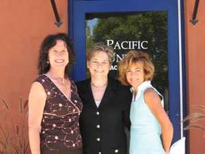 (From left to right) Beth Braby, associate with Pacific Union GMAC's Napa Office; Leslie Appleton-Young, VP/Chief Economist of the California Association of Realtors; Heidi Rickerd-Rizzo, VP/Branch Executive of Pacific Union's Napa and St. Helena offices.