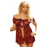 Elegant Moments Lace Babydoll Set Style 4433