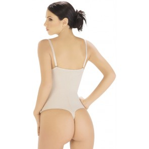 Body Line Powernet Braless Thong Back Body Briefer Style 1003