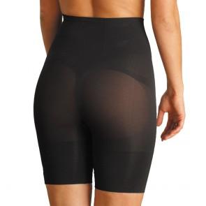 Carnival Seamless Mid Waist Long Leg Panty Girdle Black Back