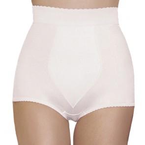 Rago High Waist Tummy Shaping Padded Panty Girdle White Front