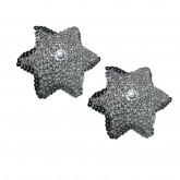 Aire Box Set Silver Star of David Beaded Nipple Pasties