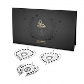 Bijoux Indiscrets Flamboyant Black and Silver Crystal Nipple Pasties Package