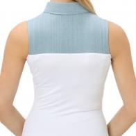SkinnyShirt Chambray Sleeveless Classic Collar Style CSCOT100-CHAM